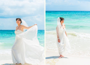 beach portrait bride isla mujeres