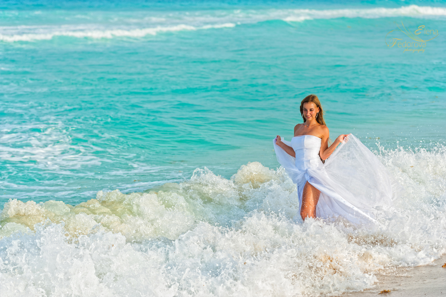 brida; trash the dress isla mujeres