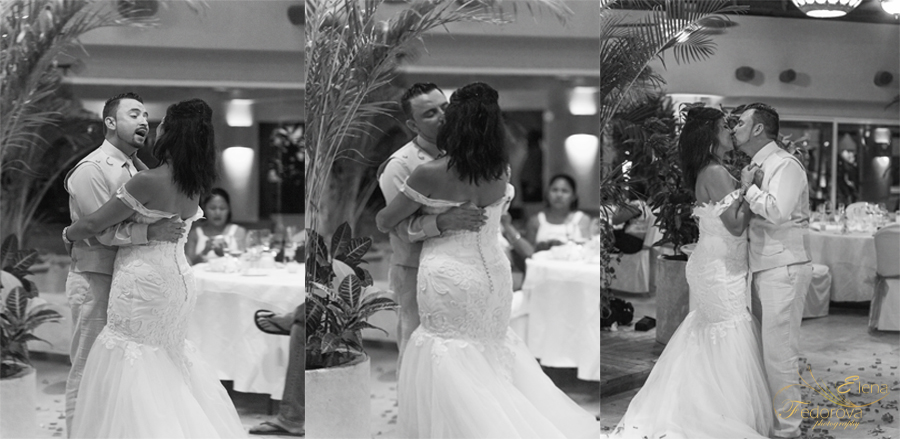 first wedding dance isla mujeres