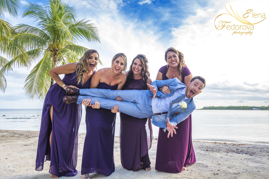 fun wedding photos isla mujeres