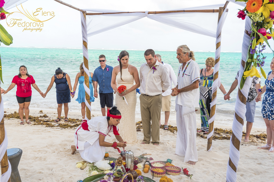mayan ceremony in isla mujeres