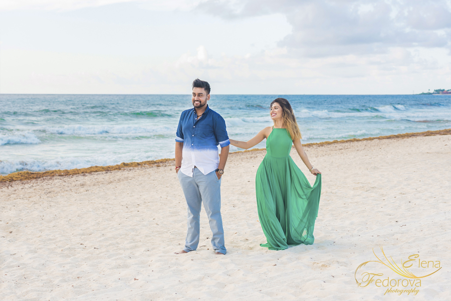 photo session for indian couple isla mujeres mexico