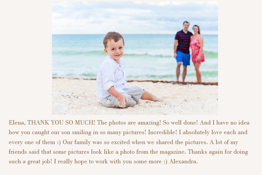 review about family photographer isla mujeres