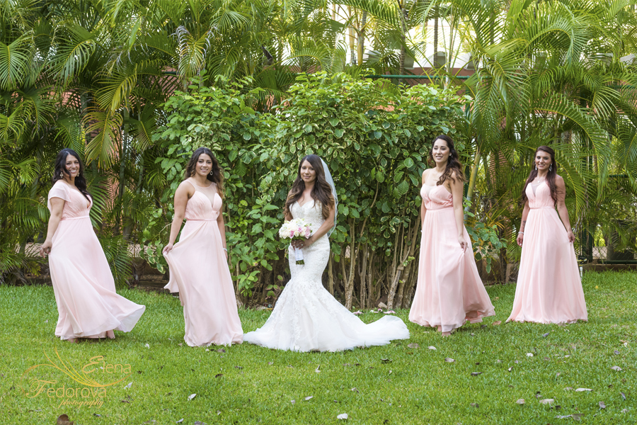 wedding photo bridesmaids and bride