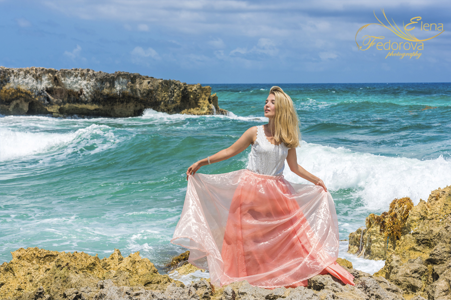 Isla Mujeres beach photo shoot