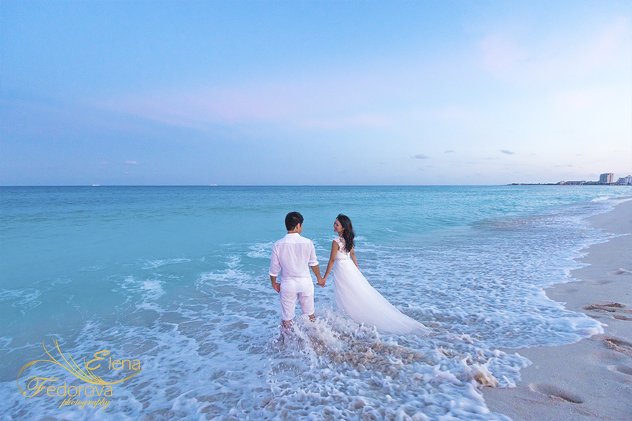 isla mujeres vacation trash the dress