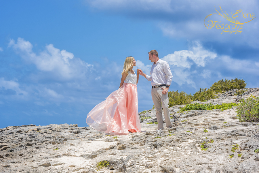 lovely couple photo session in Isla Mujeres