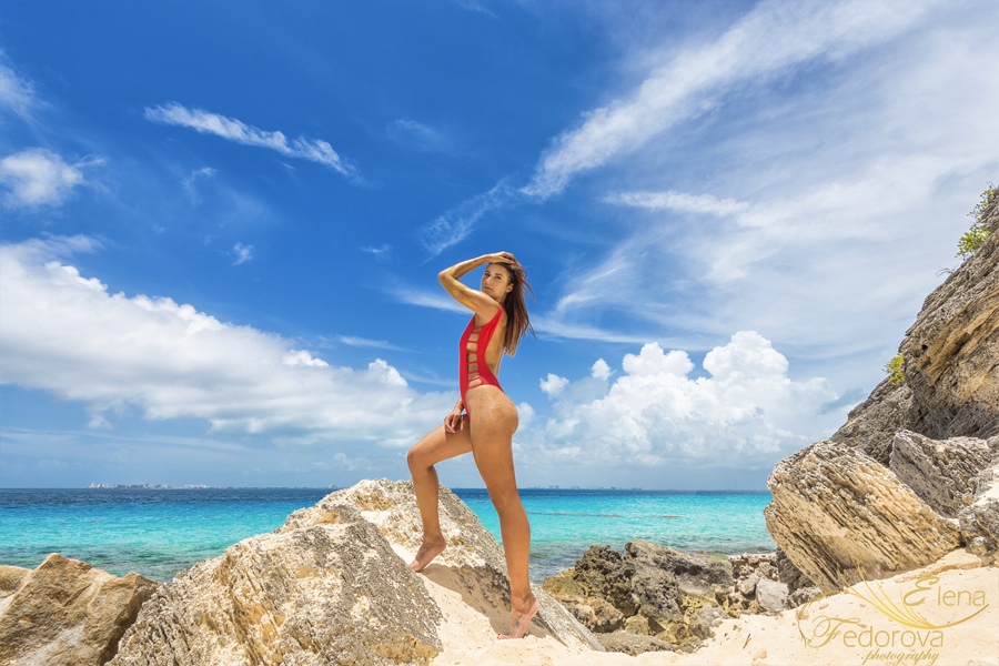 swimwear photo shoot isla mujeres